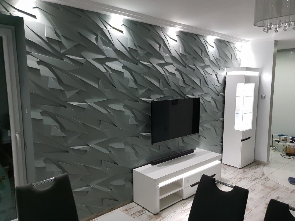Promocja Panel 3d Kryształ 100x50 Cm Beton Architektoniczny Kamień Dekoracyjny